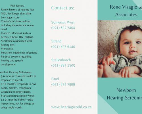 Rene Visagie Baby Pamphlet 2019